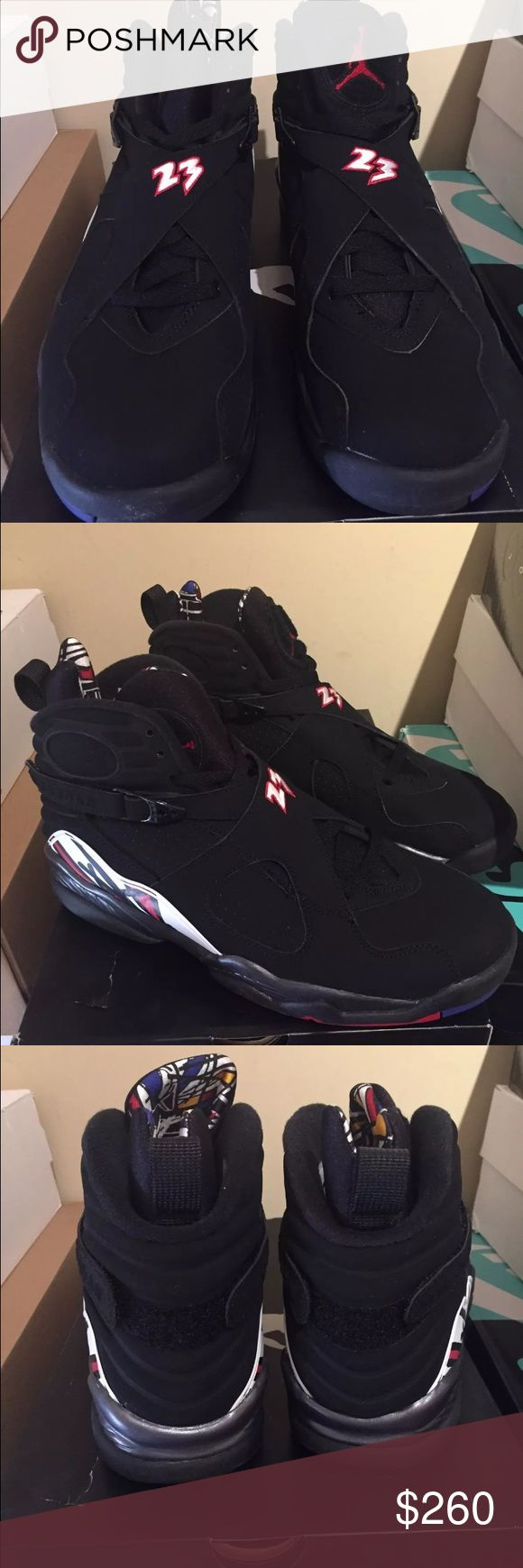 NIKE AIR JORDAN VIII 8 RETRO PLAYOFF  SIZE  9.5 NIKE AIR JORDAN VIII 8 RETRO PLAYOFF BLACK RED WHITE BRED SIZE  9.5 brand new DS never been worn 100% authentic Jordan Shoes Sneakers