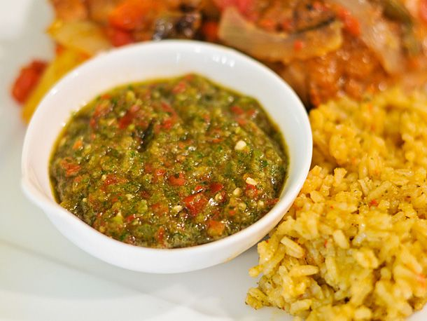Puerto Rican Sofrito. I remember one of my old co workers used to give me frozen cubes of this stuff. It is amazing to flavor just about anything for dinner.