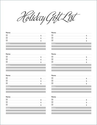 Low tech holiday shopping gift list