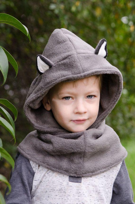 Los niños lobo de sombrero sombrero de disfraz de lobo
