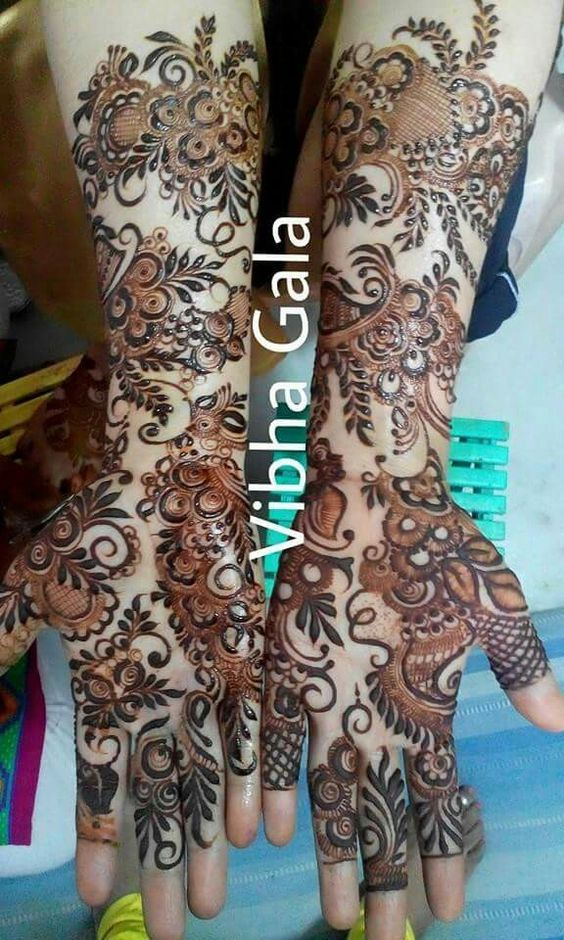 Latest Simple Arabic Mehndi Designs 2017 For Eid 7 | FashionGlint