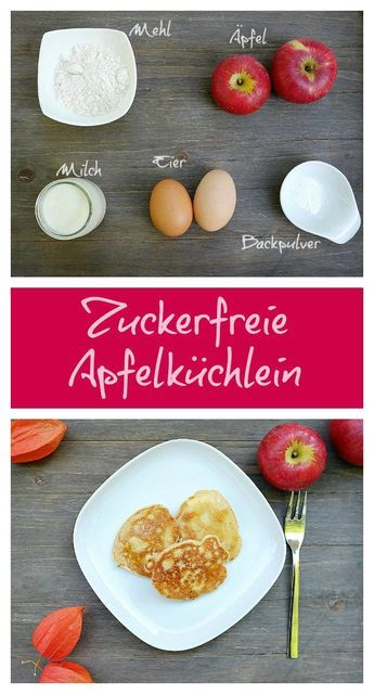 Einfache, zuckerfreie Apfelküchlein sind ein toller Nachmittagssnack für die ganze Familie.