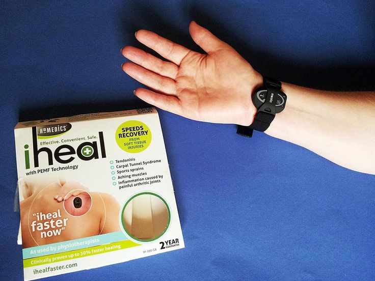 iheal is advertised as being an effective, convenient and a safe way to speed recovery from soft tissue injuries, such as Tendonitis Carpal Tunnel Syndrome Sports sprains Aching muscles Inflammation caused by painful arthritic joints It works with PEMF (pulsed, electro-magnetic field)Technology. I have had problems with my right hand