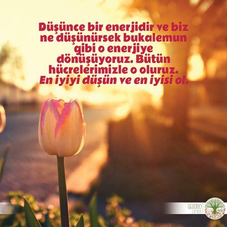 En iyiyi düşün ve en iyisi ol. Günaydın :) #günaydın #düşünce #enerji #bendekal  #andakal #olumlu #iyi