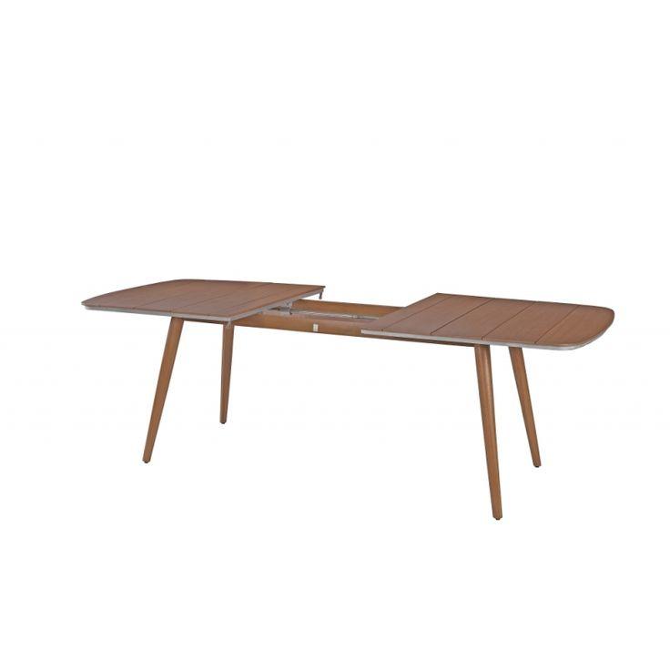 MBM Iconic Gartentisch 180/240 cm mit Aluminium / Resysta Untergestell & Resysta Tischplatte