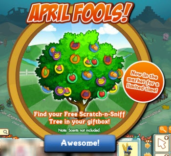 FarmVille April Fools Notice