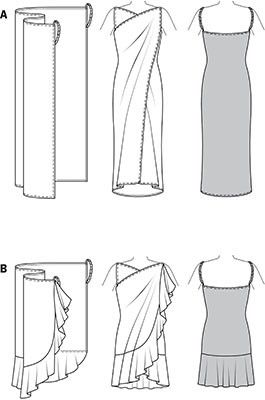 Basic wrap dress. Looks worth a shot. Wonder if it will come out even half way decent.