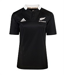 www.nzallblacks.net  All Blacks Womens Home Jersey. Made from adidas ClimaCool technology Features new close fit neck design Embroidered adidas and All blacks logos #rugby #adidas #womens #allblacks #casual