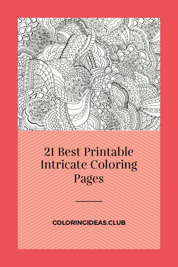 21 Best Printable Intricate Coloring Pages in 2020 ...