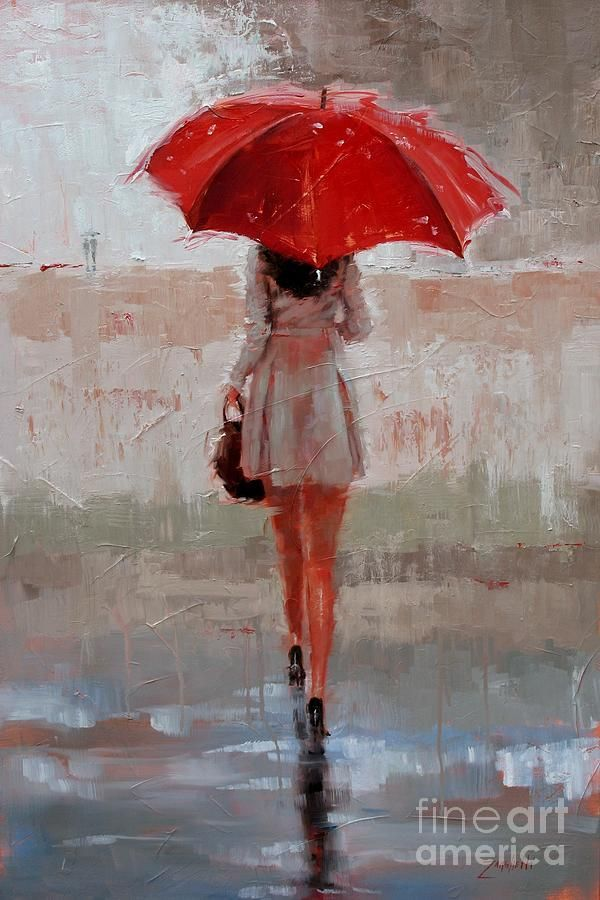 10 best girl with umbrella images on pinterest umbrellas for Painting red umbrella