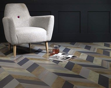 Design flooring made from various Odyssey products from Amtico Signature.