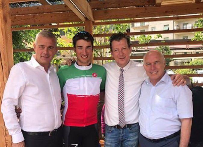 """Cles - Moscon Day a Cles (Trento). Una settimana dopo il successo agli Assoluti, si è svolto in Val di Non il """"Moscon day"""". Gianni…"""