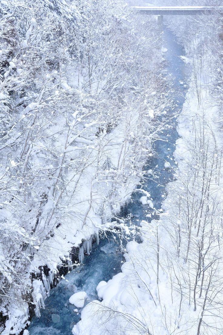 Blue River, Biei, Hokkaido, Japan