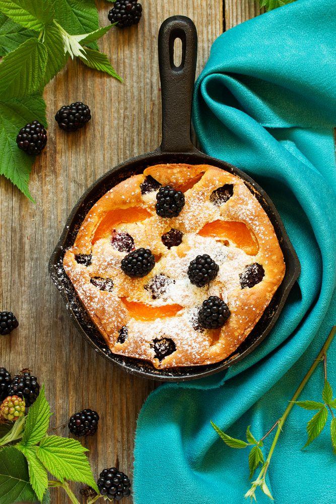 Blackberry Peach Clafoutis - Sweeter Life Club