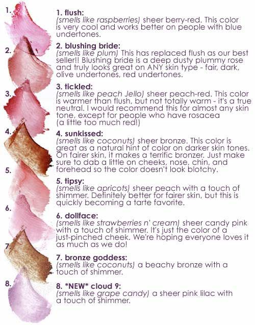 Tarte - Cheek Stains. I'm a bit of a blush junky...so I have an overly large collection of all different types of blush. Tarte's cheek stains produce the most natural look and have incredible wear time.