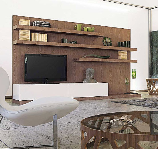 ensemble mural TV contemporain INTRAMUROS by Marelli and Molteni ROCHE BOBOIS