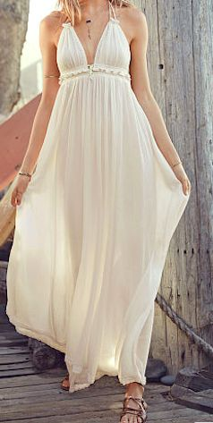 Lovely sheer white maxi beach cover up