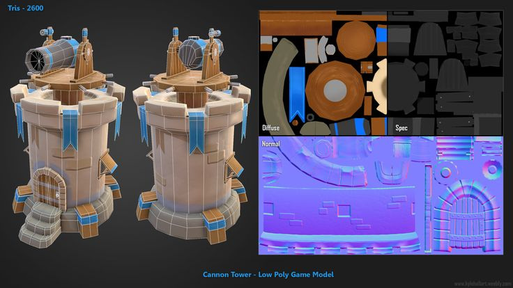 ArtStation - Stylized Cannon Tower - Low Poly Game Asset, Kyle Hall
