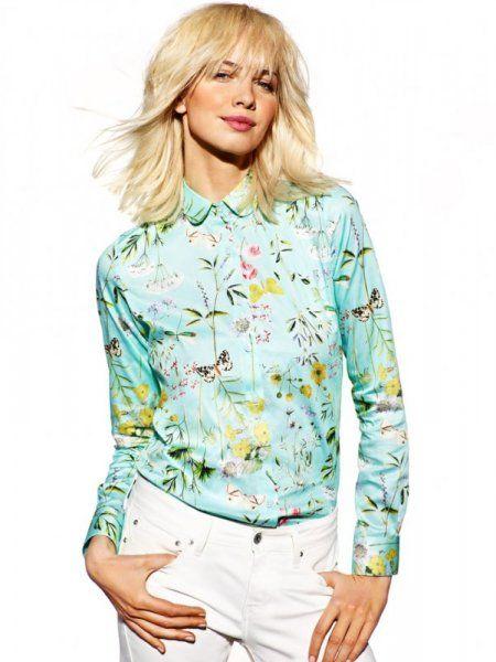 Wólczanka wiosna/lato 2015  kolekcja damska  damskie koszule koszula w kwiaty #shirt #flowers