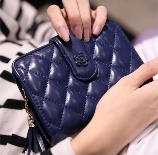 2017 Classic Quilted Women Girl Coin Purse Zip Wallet Card Holders Handbag