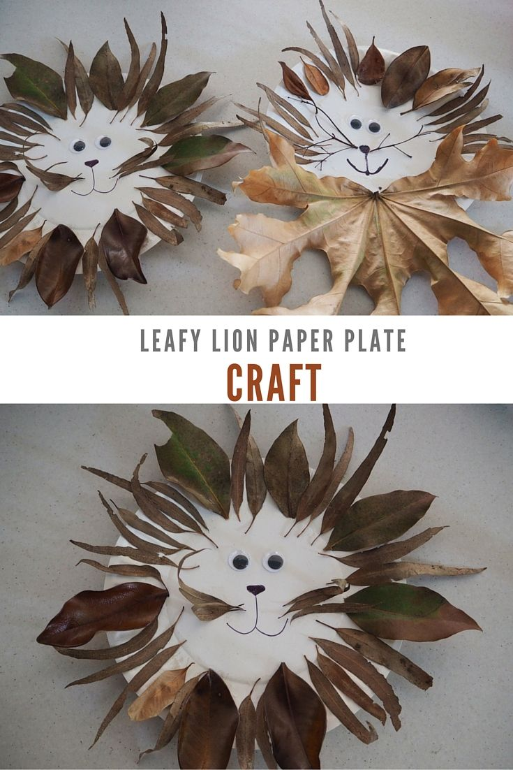 Be A Fun Mum:: leafy lion paper plate craft