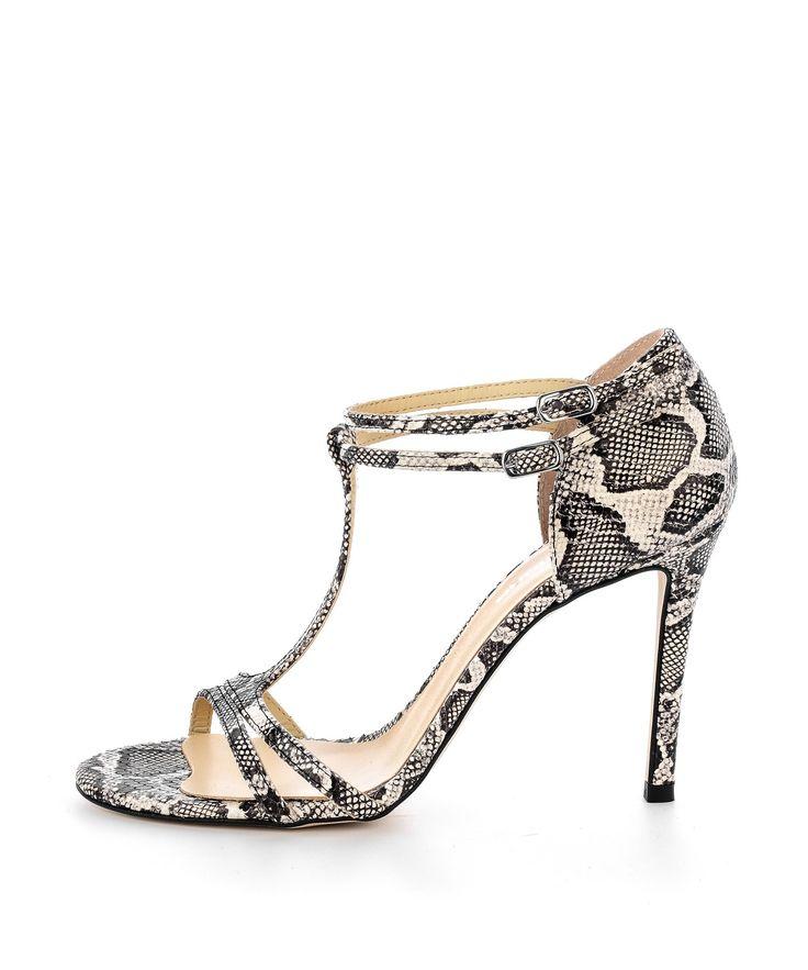 Sandały ze skóry wężowej
