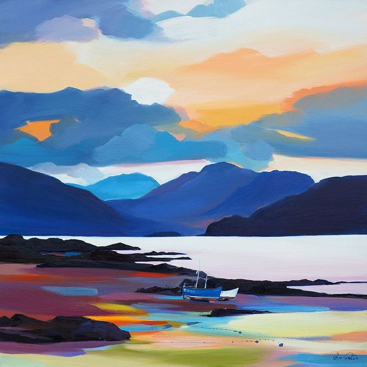 "Beached In The Sound, Skye 32""x32"""