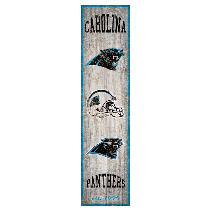 "NFL Carolina Panthers Heritage Banner Vertical 6"" x 24"" Sign"