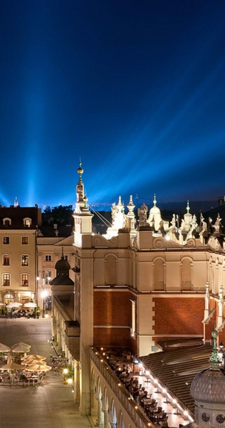 Krakow, Poland at Night