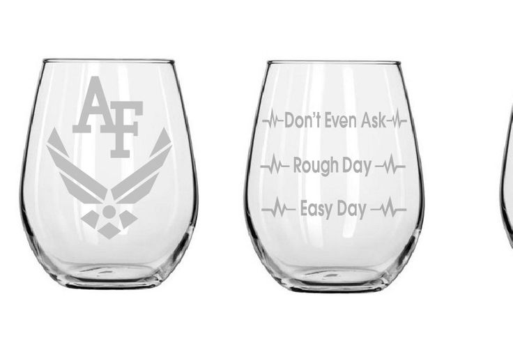 Good day Bad day glass,Etched wine glasses,Air Force glass,Armed forces,birthday gifts,Funny glass,Christmas gifts,Etched gifts by MileStoneArtworks on Etsy