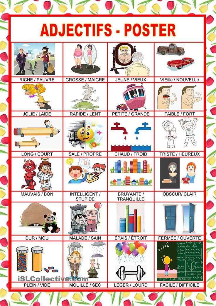 Adjectifs - poster