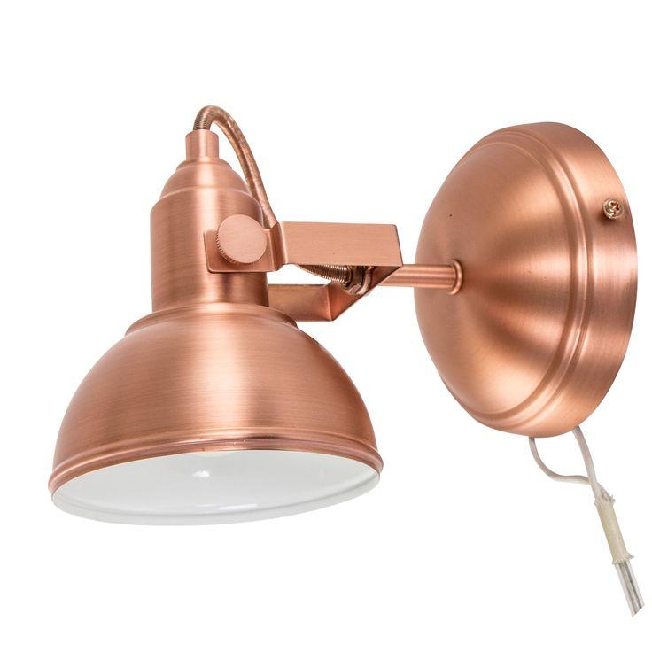 Deze trendy wandlamp past perfect binnen een modern of industrieel design. Deze praktische muurlamp is ook geschikt als bedlampje. Doordat de lamp kantelbaar is, heb je goed licht bij het lezen van een boek. Deze lamp dient rechtstreeks aangesloten te worden, waardoor er ook geen snoer zichtbaar is. Met de E14 fitting is deze wandlamp …