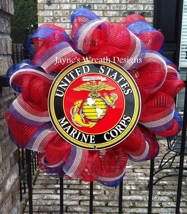 Marine's Wreath in Red, White, and Blue