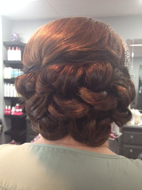 Updo/UpStyle with extensions by Kristina at Posh Hair Salon Yardley, PA www.posh-me-up.com Clients is a actually very short in back, Kristina works her magic here for sure!
