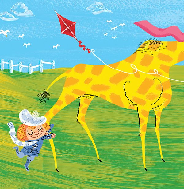 """Fintan Taite illustration for the book, """"Nanny's Lighthouse""""."""