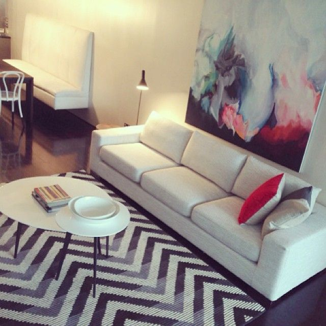 Ask Bec- where is your chevron rug from? Up on the blog today #rebeccajuddloves @trestylist @Amy Louise #TheRugCollection #Trinityrug www.therugcollection.com.au