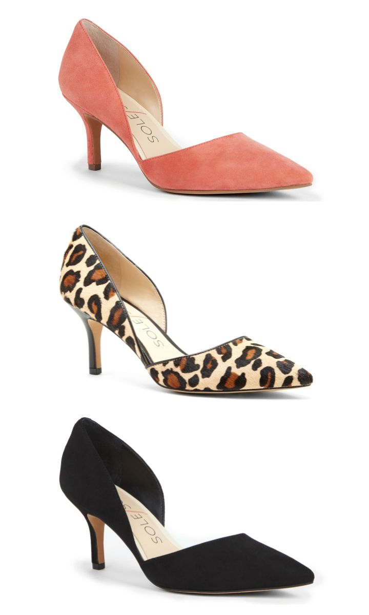 Perfect office heels: This bestselling mid-heel pump has an elegant d'Orsay silhouette and won't kill your feet. Go straight from work to happy hour in comfort and sophistication.