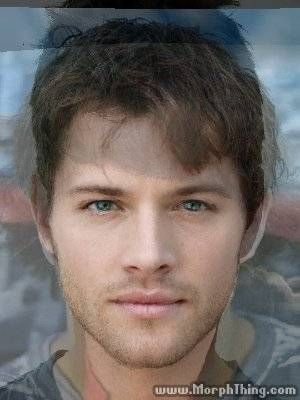 Misha Collins, Jensen Ackles and Jared Padalecki morphed together.