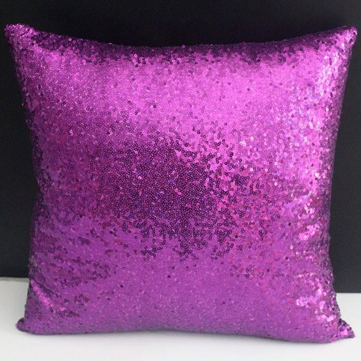 Sequins Purple Cushion Cover