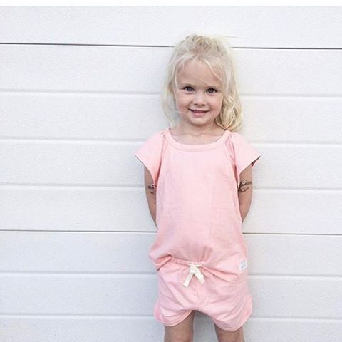 Cool girl in SELMA shorts set. Softest nightwear in 100% organic cotton.