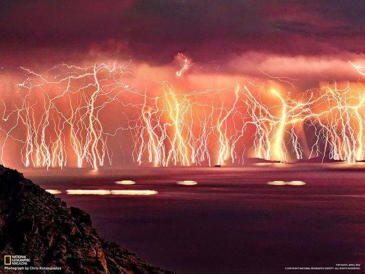 Greece Lightning storm