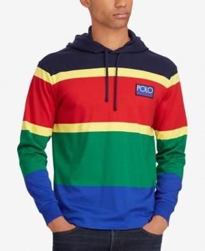 839d24ab93121 Polo Ralph Lauren Men s Big   Tall Hi Tech Soft-Touch Cotton Hoodie - Polo  Sport Red Multi 2XB