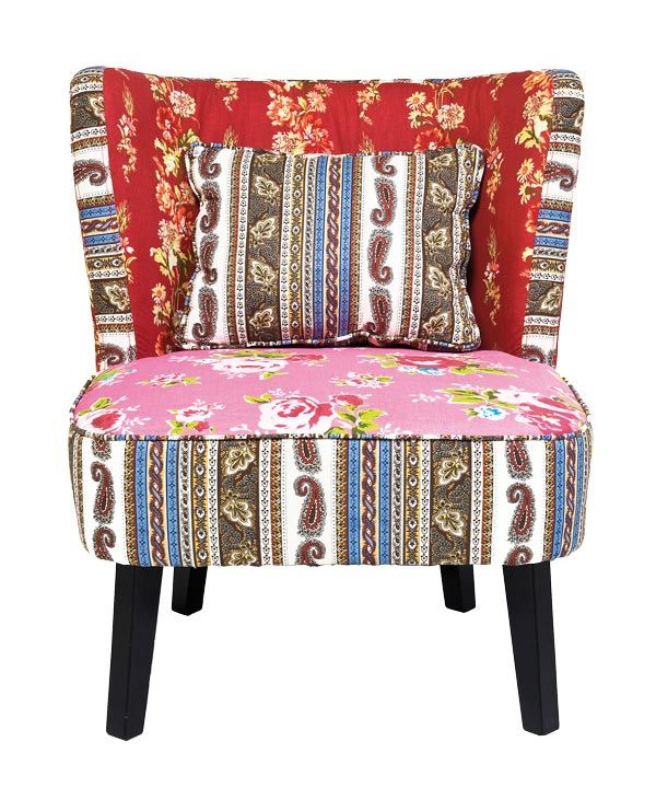Poltroncina Club Patchwork Rossa