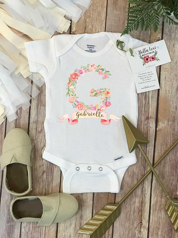333 best baby shower gifts images on pinterest checked shirts custom baby onesie custom name onesie baby shower gift custom baby gift negle Gallery