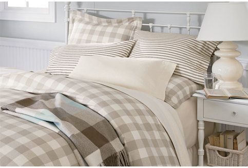 Buffalo Check Comforter Cover In Driftwood Natural Ll