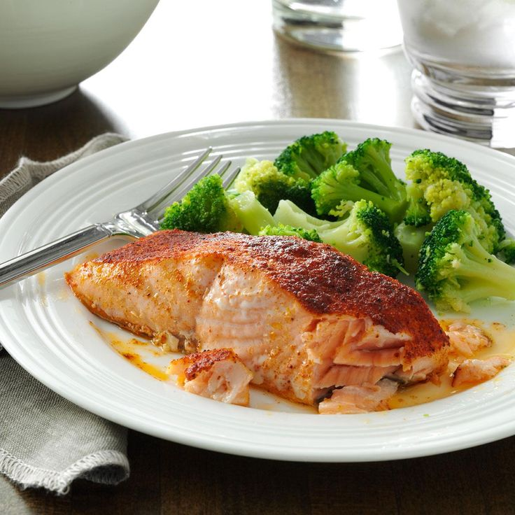 Oven-Barbecued Salmon Recipe -Late last summer, the South Carolina heat drove me indoors and away from my grill. So I changed my favorite grill recipe to be made in the oven with just as tasty results. —Mandy Rivers, Lexington, South Carolina