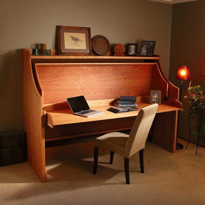 Hiddenbed 174 Fold Out Bed And Desk Mechanism Desks Wood