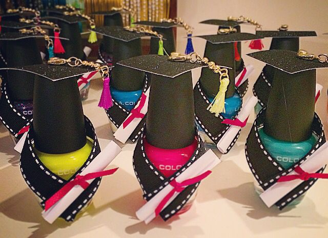 Nail polish graduation 2016 party favors