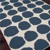 Polka Dots Dhurrie Rug - Navy or Light Blue - Shades of Light