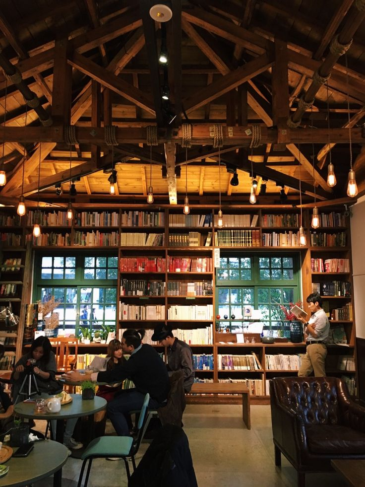 books are uniquely portable magic, cafewithstyle:  A classy book cafe in Taipei. - by...
